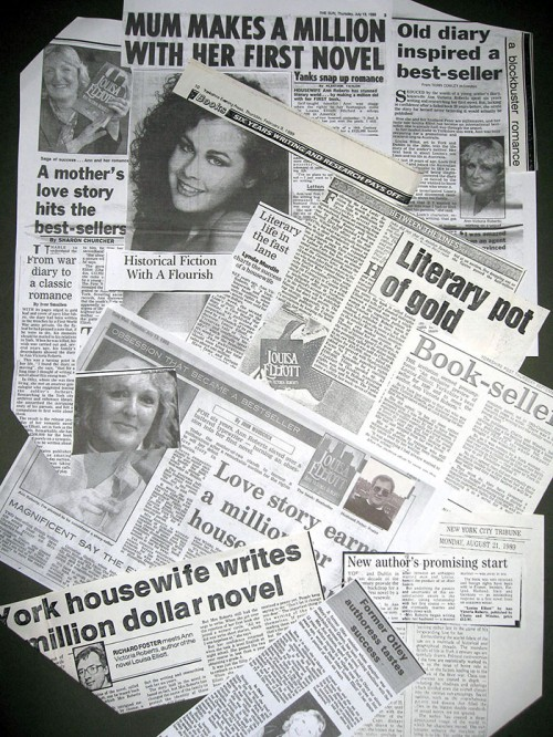Ann Victoria Roberts, Louisa Elliot newspaper clippings